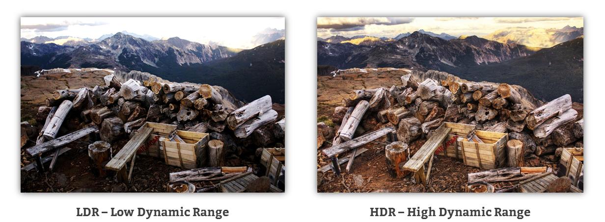 Kaufberatung Beamer - Vergleich HDR - High Dynamic Range und LDR - Low Dynamic Range