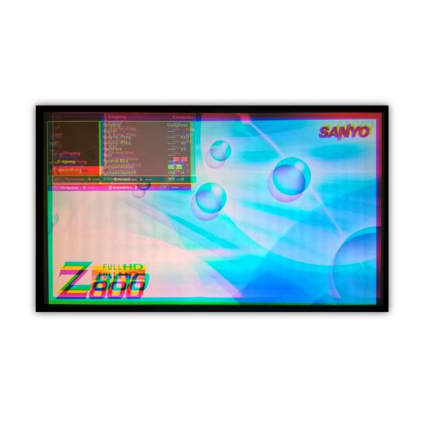 LCD Beamer Reparatur – Konvergenzfehler, Farbversatz und LCD-Panel verschoben.