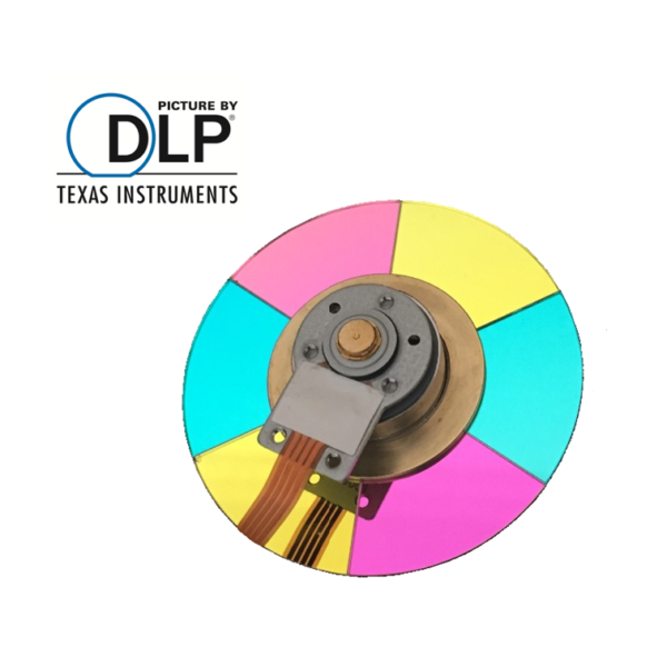 DLP Beamer Reparatur Farbrad Austausch bzw. Wechsel bei lautem Brummen, keine Farbe und Schwarz-Weiß Bild